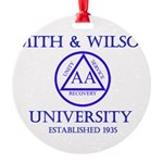 Smith Wilson University Round Ornament