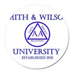 Smith Wilson University Round Car Magnet