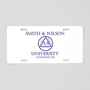 Smith Wilson University Aluminum License Plate
