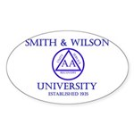 Smith Wilson University Sticker (Oval)
