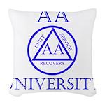 AA University Woven Throw Pillow