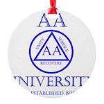 AA University Round Ornament