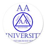 AA University Round Car Magnet