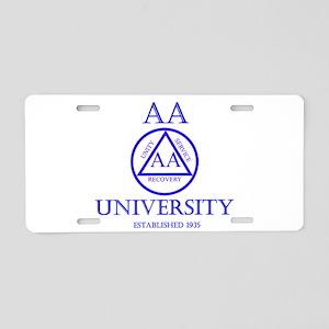 AA University Aluminum License Plate
