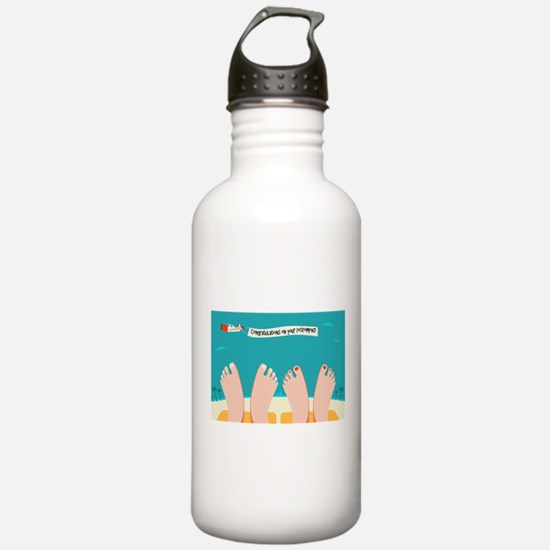 Retirement on the Beac Water Bottle