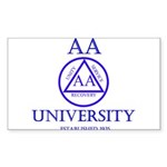 AA University Sticker (Rectangle 50 pk)