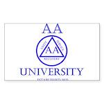 AA University Sticker (Rectangle 10 pk)