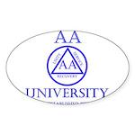 AA University Sticker (Oval 10 pk)