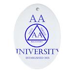 AA University Oval Ornament