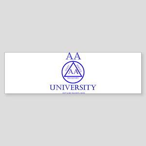 AA University Sticker (Bumper)