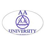 AA University Sticker (Oval)