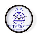 AA University Wall Clock