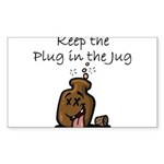 Keep the Plug in the Jug Sticker (Rectangle 10 pk)