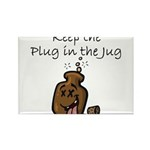 Keep the Plug in the Jug Rectangle Magnet (100 pac