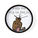 Keep the Plug in the Jug Wall Clock