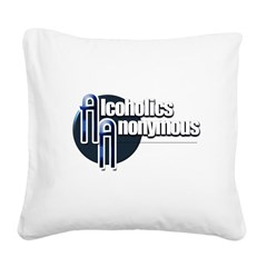 Alcoholics Anonymous Square Canvas Pillow