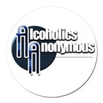 Alcoholics Anonymous Round Car Magnet