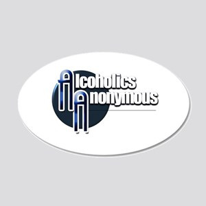 Alcoholics Anonymous 20x12 Oval Wall Decal