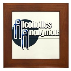 Alcoholics Anonymous Framed Tile