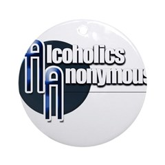 Alcoholics Anonymous Round Ornament