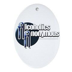 Alcoholics Anonymous Oval Ornament