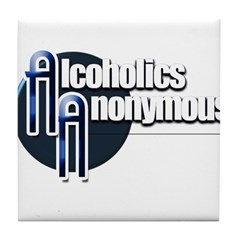 Alcoholics Anonymous Tile Coaster