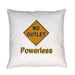 No Outlet Powerless Everyday Pillow