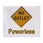 No Outlet Powerless Throw Blanket