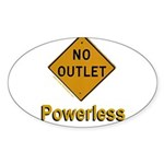 No Outlet Powerless Sticker (Oval 50 pk)