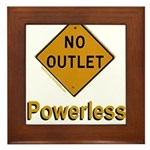 No Outlet Powerless Framed Tile