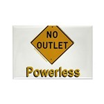 No Outlet Powerless Rectangle Magnet (10 pack)