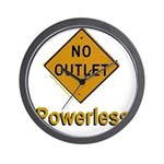 No Outlet Powerless Wall Clock