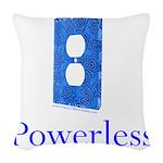 Powerless Woven Throw Pillow