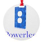 Powerless Round Ornament