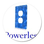 Powerless Round Car Magnet