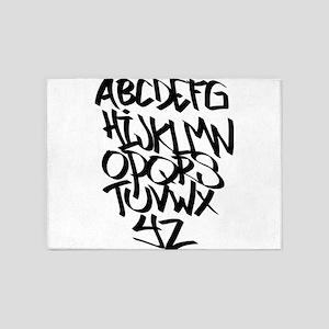 Alphabet graffiti 5'x7'Area Rug