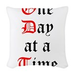 One Day at a Time Woven Throw Pillow