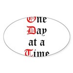 One Day at a Time Sticker (Oval 10 pk)