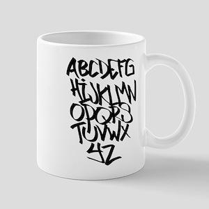 Alphabet graffiti Mugs