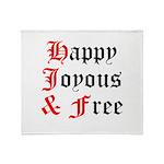 Happy Joyous Free Throw Blanket