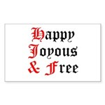 Happy Joyous Free Sticker (Rectangle 50 pk)