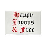 Happy Joyous Free Rectangle Magnet (100 pack)