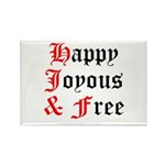 Happy Joyous Free Rectangle Magnet
