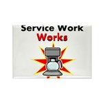 Service Work Works Rectangle Magnet (100 pack)