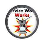Service Work Works Wall Clock