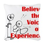 Voice of Experience Woven Throw Pillow