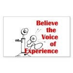 Voice of Experience Sticker (Rectangle 50 pk)