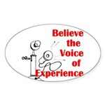 Voice of Experience Sticker (Oval)