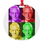 Colorful Bill W Round Ornament