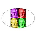 Colorful Bill W Sticker (Oval)